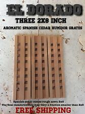2x8 Spanish Cedar Humidor Grates Elevates Cigars For Proper Humidification