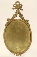 Antique Ornate Oval Brass Picture Frame Floral Swags Roses Ribbons Lord & Taylor