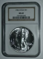 1986 LIBERTY SILVER DOLLAR MS69 UNCIRCULATED