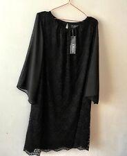 NEW Black Lace Dress 18 Kimono Sheer Slvs Date Blacktie Party GoingOut RP £40