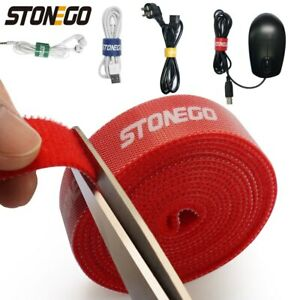 STONEGO USB Cable Winder Cable Organizer Ties Mouse Wire Earphone Holder HDMI
