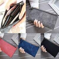 Envelope Zipper PU Leather Coin Bags Long Wallets Card Holder Handbag Purse