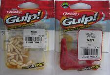 2 - BERKLEY GULP!  Waxies (30/Pk) - White & Red