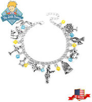 US! Le PETIT The Little Prince Charm Bracelet Bangle Wristband Gifts 10Terms Hot