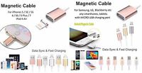 NEW Magnetic Charger Sync Data Cable Lead for iPhone 5/6/7, Android Smartphones