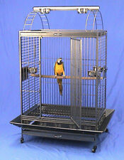 """4 Color, 40""""x30""""x71"""" ;H Play Top Wrought Iron Parrot Cage, 6mm Extra Strong Wire"""