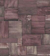 Erismann Papel Pintado - Madera Cabezal/TABLAS - en marrón - CON TEXTURA 7354-11