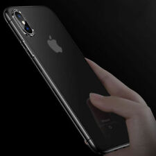 For Apple iPhone (X) 8 Slim Clear Soft TPU Protected Back Skin Case Cover Bumper