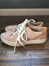 Womens 5.5 M Liz Claiborne Warwick Blush Tennis Shoes Sneakers Rose Gold Trim