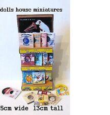 Pavimento in piedi esposizione negozio Gramaphone RECORDS Casa delle Bambole in Miniatura