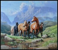 Wild Horses - DIY Chart Counted Cross Stitch Patterns Needlework embroidery