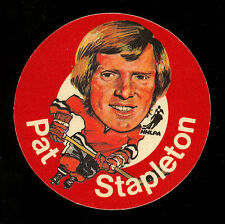1973-74 MAC'S MILK NHL PAT STAPLETON BLACK HAWKS NM CLOTH STICKER HOCKEY DISC