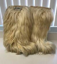 Vintage 1970's NORDICA Yeti Italy Apres Goat Fur Ski Boots Size US 4