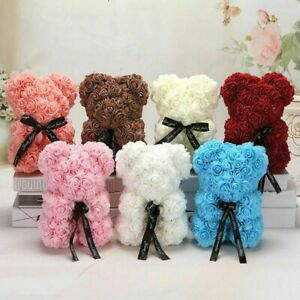 Artificial Flower Rose Bear Valentine Birthday Chrismas Gifts Wedding Home Decor