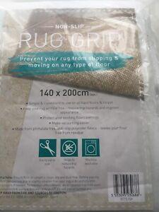 Rugs Mat Carpet Anti/Non Slip Grip All Floor Types Polyester Fleece 140x200cm