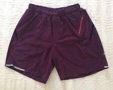 Lululemon Women's Purple Shorts Built in Liner Medium M Pockets Sports Running