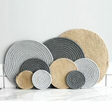 Round Table Mats Solid Coasters Knitted Home Dining Place Mat Kitchen Accessory