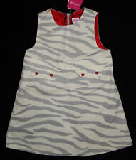 Gymboree Baby Girl Zebra Dress 2T/2 Velour Tiger Love Moleskin NEW