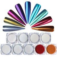 BORN PRETTY 1g Auroras Nail Glitter Powder Mirror Effect Nail Art Chrome Pigment