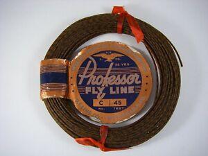 U.S. LINE Co. Professor SILK FLY LINE; Size C, ~7 WT; Great W/ Bamboo Rod