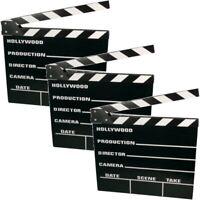 3 Stück Clapperboard Filmklappe Regieklappe 20 x 18 cm Film Slate Regie-Klappe