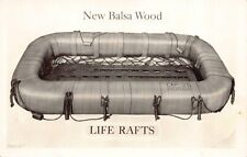 Real Photo Postcard Advertisement for Balsa Wood Life Rafts~127395