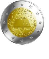 """Nederland 2 euro """"Verdrag van Rome"""" 2007 UNC Commemorative,zo uit de rol!"""