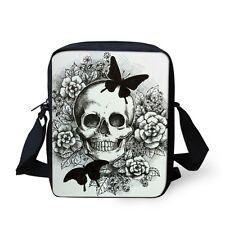 Women Small Messenger Cross Body Bag Fashion Skull Sling School Shoulder Purse