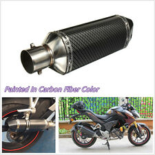 Durable 38-51mm Motorbike Carbon Fiber Exhaust Muffler Pipe & Removable Silencer