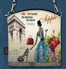 Vintage Femme Sac à Main Bandoulière Portable Toile Epaule Messenger Pochette