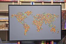 Weltkarte BILDER ART PICTURE MODERN Leinwand ACRYL GEMÄLDE MALEREI VON MICHA ;)