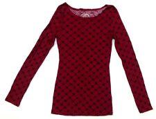 RUE21 Women's T-Shirt Blouse Long Sleeve Maroon Cross Medium *FREE SHIPPING* A33