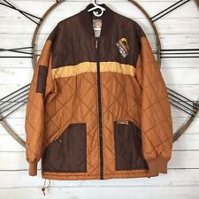 Rocawear Jacket ROC Denim Corp Brown Quilted Puffer Color Block 2X XXL Size 5