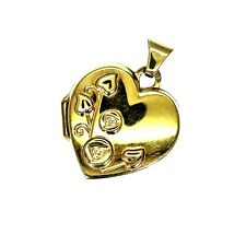 9ct 9k Gold Mackintosh Style Heart Photo Locket Pendant
