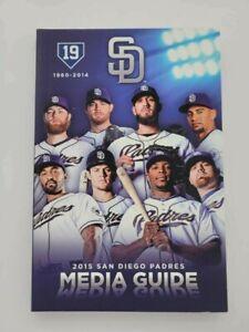 SAN DIEGO PADRES MLB BASEBALL MEDIA GUIDE 2015 MINT