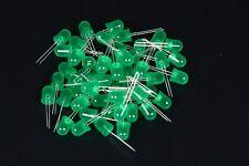 FOGGY 50 DIODI LED LEDS VERDI 10mm GREEN LUCE DIFFUSA DIFFUSED A2B13