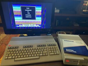 Commodore 128, Power Supply, 1571 Disk Drive, Manual, Disks, and Cables (Rare)
