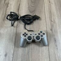 Sony Playstation 2 PS2 Official OEM Dualshock 2 Silver Controller AUTHENTIC-
