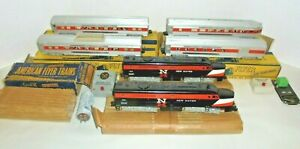 AMERICAN FLYER RARE S GAUGE VINTAGE PASSENGER TRAIN SET WITH BOXES