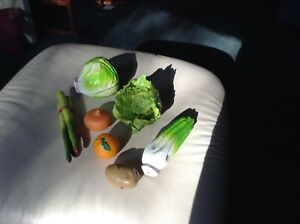 Plastic vegetables for children play or theatre