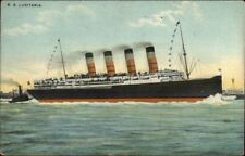 Steamship Lusitania Message INSPECTED THE LUSITANIA WENT TO CONEY ISLAND pc