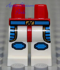 NEW Lego Boy/Girl Minifig WHITE LEGS w/Dare Devil Red Blue Patch Worker Belt
