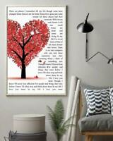 The Beatles In My Life Lyrics Tree Heart 12-48'' Portrait Paper Poster No Frame