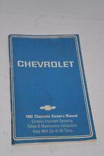 Original Vintage 1982 Chevrolet Automobile Operator's Manual