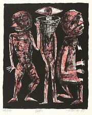 Frieder heinze-tres-cromolitografía 1985