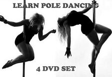 LEARN POLE DANCING FOR BEGINNERS TO ADVANCED 4 DVD STEP BY STEP GUIDE FITNESS