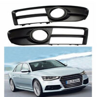 Right&Left Front Durable Fog Light Grille For A4 B7 A4 S4 2007-2009
