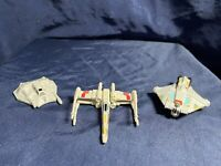 3 Hot Wheels Star Wars Red 5 X-Wing, Snowspeeder & Rebel Ghost Diecast Ships