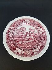 """COPELAND SPODE'S TOWER ENGLAND PINK OLD MARK 6 1/2"""" BREAD PLATE"""