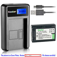 Kastar Battery LCD Charger for Sony NP-FH50 Sony DSLR-A230Y DSLR-A290 DSLR-A330
